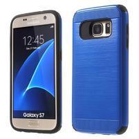 Dvoudielný odolný kryt pre Samsung Galaxy S7 - modrý