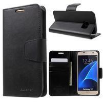 Sonata PU kožené puzdro pre Samsung Galaxy S7 - čierné