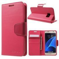 Sonata PU kožené puzdro pre Samsung Galaxy S7 - rose