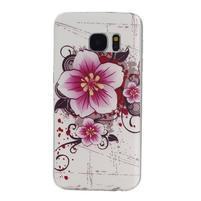 Pictu gelový obal na mobil Samsung Galaxy S7 - květiny