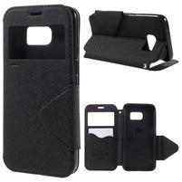 Diary puzdro s okienkom pre Samsung Galaxy S7 - čierné
