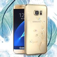 Swarowski plastový obal s kamínky na Samsung Galaxy S7 - elegant