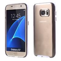 Dvoudielný obal pre mobil Samsung Galaxy S7 - šedý