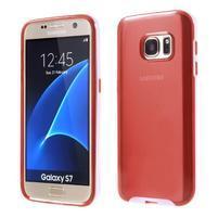 Dvoudielný obal pre mobil Samsung Galaxy S7 - červený