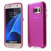 Dvoudílný obal na mobil Samsung Galaxy S7 - rose