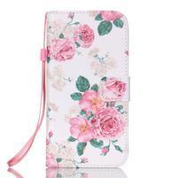 Kvetinové peňaženkové puzdro pre Samsung Galaxy S7 Edge