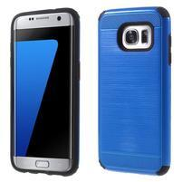 Odolný dvojdielny obal pre Samsung Galaxy S7 edge - modrý
