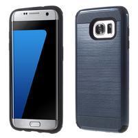 Odolný dvojdielny obal pre Samsung Galaxy S7 edge - tmavomodrý