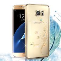 Swarowski plastový obal s kamínky na Samsung Galaxy S7 Edge - elegant