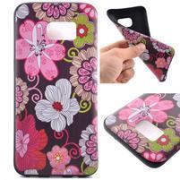 Backy gelový obal na Samsung Galaxy S7 edge - květiny