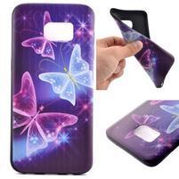 Backy gélový obal pre Samsung Galaxy S7 edge - čarovné motýle