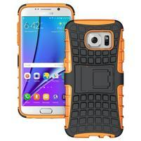 Odolný outdoor kryt na Samsung Galaxy S7 edge - oranžový