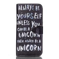 Cross peňaženkové puzdro pre Samsung Galaxy S7 edge - unicorn
