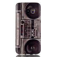 Softy gélový obal pre Samsung Galaxy S7 edge - retro rádio