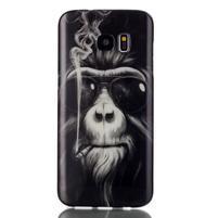 Softy gélový obal pre Samsung Galaxy S7 edge - opičák