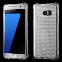 Glitter gélový obal pre Samsung Galaxy S7 edge - transparentný