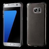Glitter gélový obal pre Samsung Galaxy S7 edge - šedý