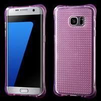 Glitter gélový obal pre Samsung Galaxy S7 edge - rose