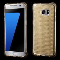 Glitter gélový obal pre Samsung Galaxy S7 edge - zlatý
