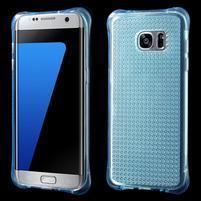 Glitter gélový obal pre Samsung Galaxy S7 edge - modrý