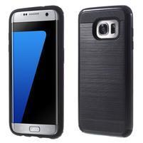 Odolný dvoudílný obal na Samsung Galaxy S7 edge - černý