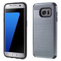 Odolný dvojdielny obal pre Samsung Galaxy S7 edge - šedý
