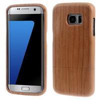 Woods drevený obal pre mobil Samsung Galaxy S7 Edge - dekor II