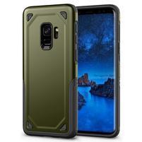 Ruggi hybridný odolný obal na Samsung Galaxy S9 - zelený