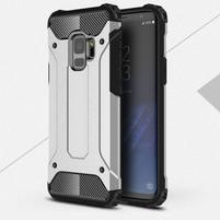 Armory odolný hybridný obal na Samsung Galaxy S9 - strieborný
