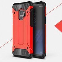 Armory odolný hybridný obal na Samsung Galaxy S9 - červený