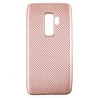Flexi gélový obal so štruktúrou na Samsung Galaxy S9 Plus - rosegold