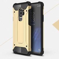 Armory odolný hybridný obal na Samsung Galaxy S9 Plus - zlatý