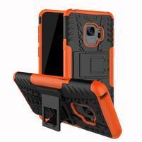Outdoor odolný obal na Samsung Galaxy S9 Plus - oranžový