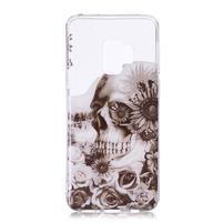Printy gélový obal na Samsung Galaxy S9+ - kvetinová lebka