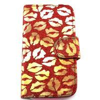 Pusinky peňaženkové puzdro pre Samsung Galaxy S4 Mini - červené