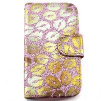 Pusinky peňaženkové puzdro pre Samsung Galaxy S4 Mini - ružové