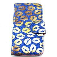 Pusinky peňaženkové puzdro pre Samsung Galaxy S4 Mini - modré