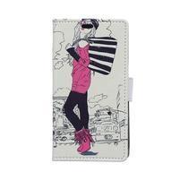 peňaženkové puzdro pre Sony Xperia M4 Aqua - modní štýl