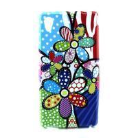 Gélový kryt pre Sony Xperia M4 Aqua - abstraktní kvetiny