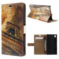 Peňaženkové puzdro pre Sony Xperia M4 Aqua - Eiffel