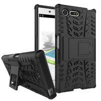 Outdoor odolný obal so stojanom na Sony Xperia X Compact - čierny