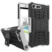 Outdoor odolný obal so stojanom na Sony Xperia X Compact - biely
