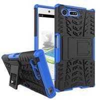 Outdoor odolný obal so stojanom na Sony Xperia X Compact - modrý