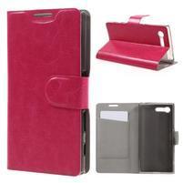 Leathy PU kožené puzdro pre Sony Xperia X Compact - rose