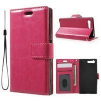 Horse PU kožené puzdro pre mobil Sony Xperia X Compact - rose