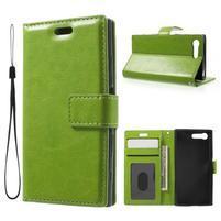Horse PU kožené puzdro pre mobil Sony Xperia X Compact - zelené