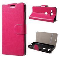 Horse PU kožené puzdro na Sony Xperia XZ2 compact - rose
