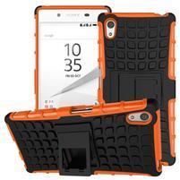 Outdoor odolný obal pre Sony Xperia Z5 - oranžový