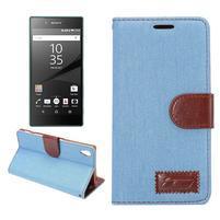 Jeans Peňaženkové puzdro Sony Xperia Z5 - svetlomodré
