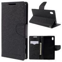 Mercur peněženkové pouzdro na Sony Xperia Z5 - černé